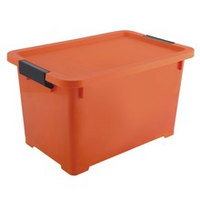 Costomized colors waterproof 40L plastic storage box for clothes