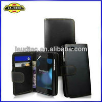 Leather Wallet Case for HTC One M7,Flip Leather Case Cover for HTC One M7,2013 New 100% perfect fit----Laudtec