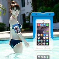 "Luminous Noctilucent 6"" PVC Waterproof Bag Underwater Pouch Dry Bag Case Cover for iphone 6 6s 6s Plus for Samsung Galaxy Note 5"