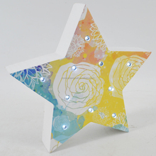 China OEM hanging MDF Christmas star