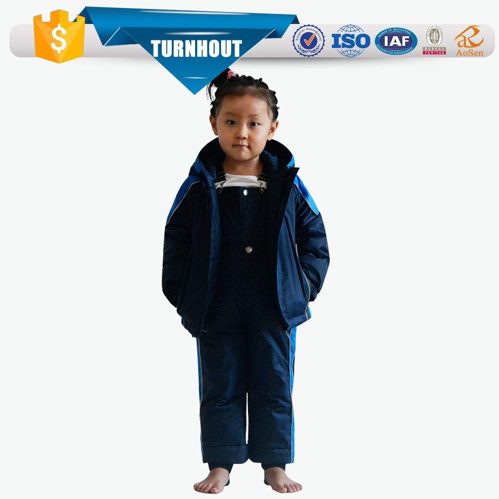 Children ski running racing suits keep warm windproof ski jacket and pants sets