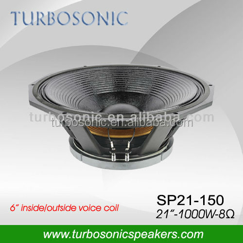 RMS 1000w high power horn speaker subwoofer 21'' with 6 inch voice coil