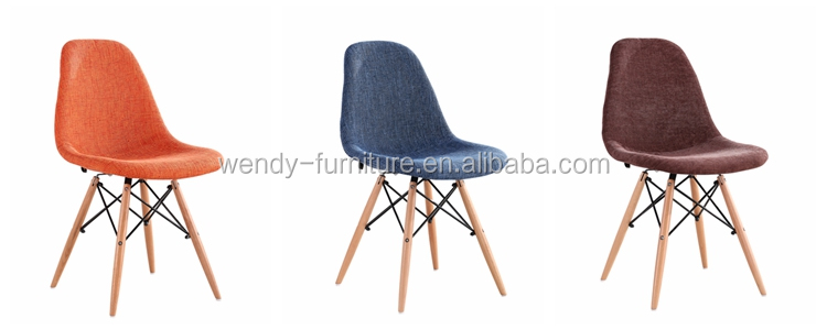 Modern design patchwork dining chairs with wood legs