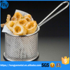 stainless steel PVC handle Onion fry basket with polised treatment