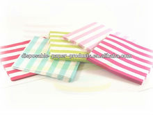 200 packs (4000 pcs )Red Blue Green Black Hot pink Pink and White Striped Stripey Luncheon Lunch Party Paper Napkins Serviettes