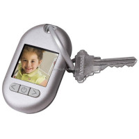Digital Photo Keychain Picture Frame Album Key chains Black/White keyring