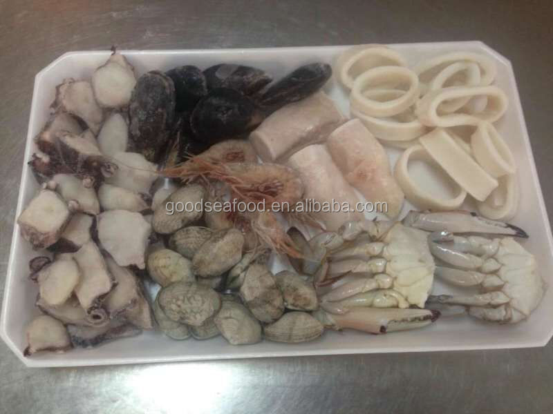 frozen seafood mix squid crab shrimp