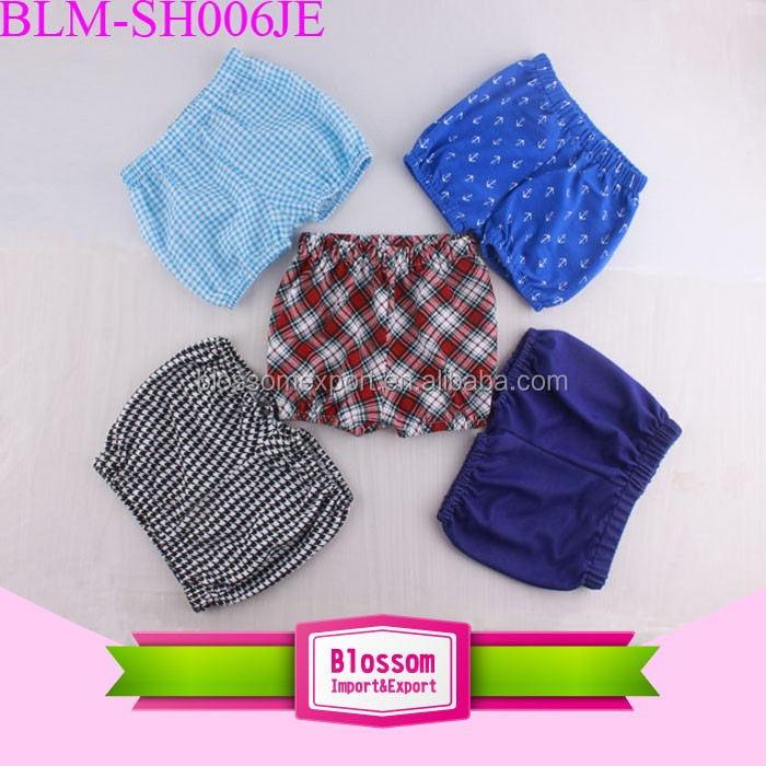 Wholesale Children Seersucker Shorts Sewing Pattern Elastic Waist Unisex Boys Girls Kids Bubble Shorts