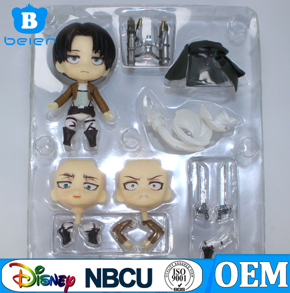 Attack on titan Shingeki no Kyojin Levi Nendoroid series Cute Figure #390