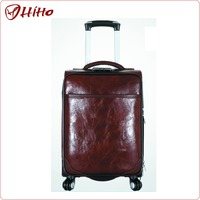 China Factory PU Leather Travel Luggage For Business