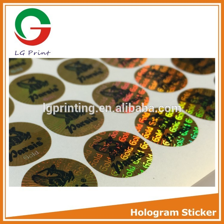 Hot selling silkscreen printing hologram sticker with high quality