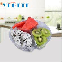 disposable ps pet Compartment Plastic Party tray with pet lid and plastic container for food with dividers