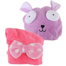 Soft Absorbent Dry Hair Cap Kids Quick Drying Towel Head Wrap