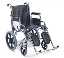 Manual steel main frame nursing wheel chair with soft PU adjustable footrest for disabled/elderly people RJ-W927