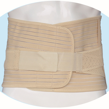 Adjustable Bernapas pemangkas kembali lumbar support belt