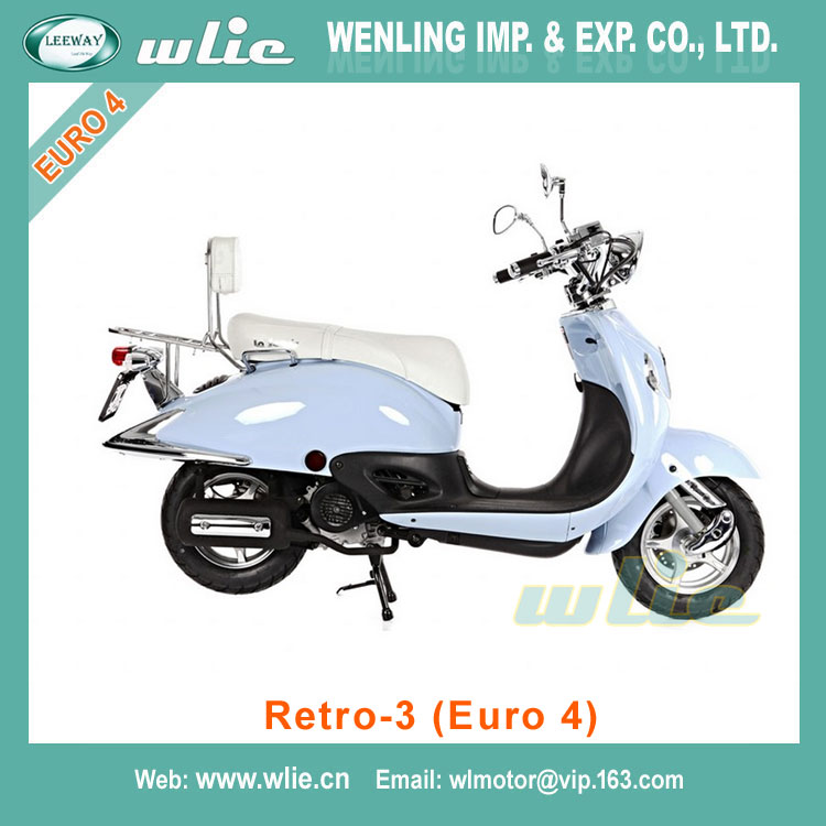 2018 New mini gas motorcycle motor scooter manual 50cc Retro-3 50cc/125cc (Euro 4)