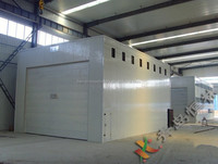 High quality exported to the Americas standard sand blasting room of castings