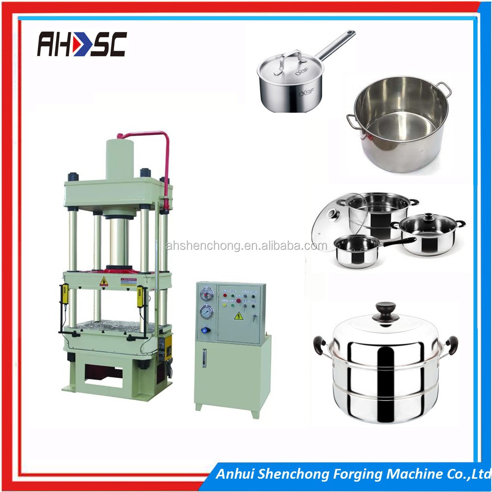 Most popular laboratory rubber hydraulic press 10 ton Y32-630 four pillar hydraulic deep drawing press from anhuishenchong