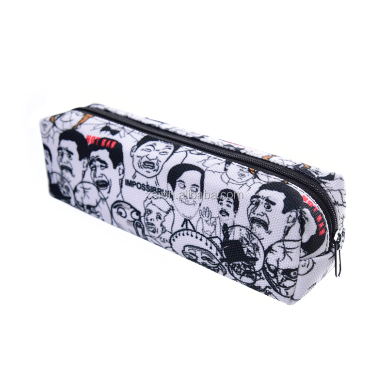 top quality funny pencil case 3D printings sublimation pencil case