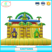 Giant Inflatable Pool Slide Double Or Three Lane Slide For Sale