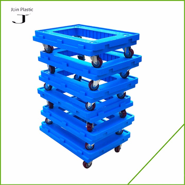 150KGS Loading plastic logistic dolly container dolly