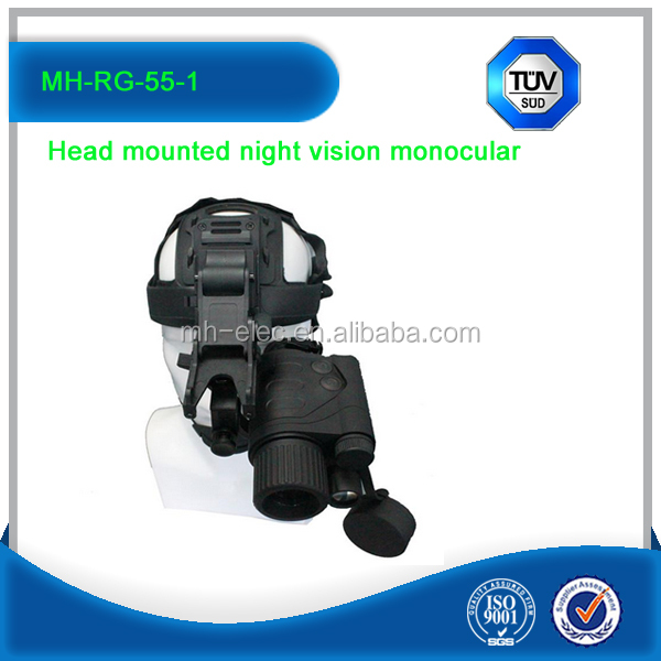 MH-RG-55-1 Head Mounted Night Vision Monocular,Night Vision Military Goggle For Sale