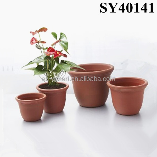 Round Office Decorative Plastic Plant Pots Buy Office