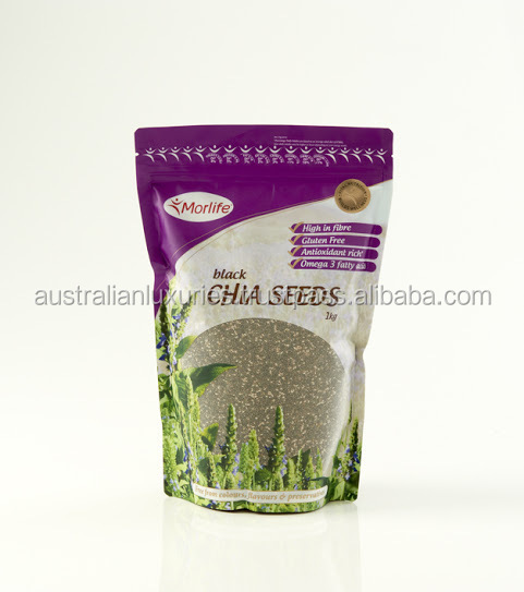 Morlife (Salvia hispanica) Chia Seeds Black - 100% Pure 1kg High in Fibre, Gluten Free, Omega 3, antioxidants (Australia)