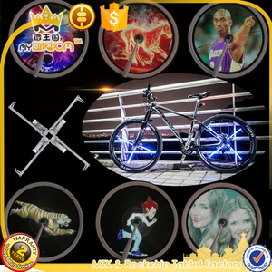 416 LEDs DIY Bicycle Spoke Bike Tire Wheel Light Programmable LED Double Sided Screen Display Image Night Cycling Ride