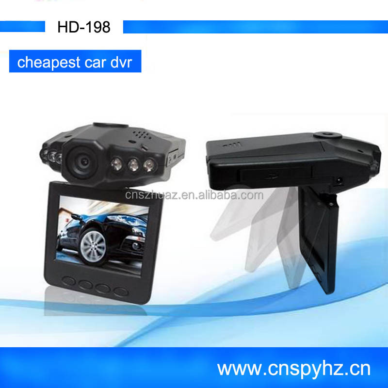 Cheapest Mini 2.5 Inch Car camera mini Dvr Recorder H198 Dash Cam with CE Certification