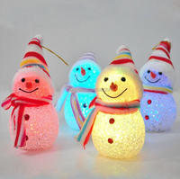 12cm led snowman ornament