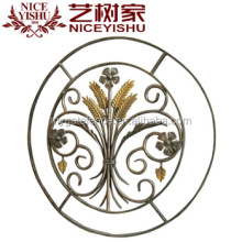 Yishujia factory customize ornament tree wrought iron, wrought iron flower stand, garden iron gate flower design