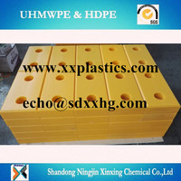 customized UHMWPE plastic dock bumper made in china