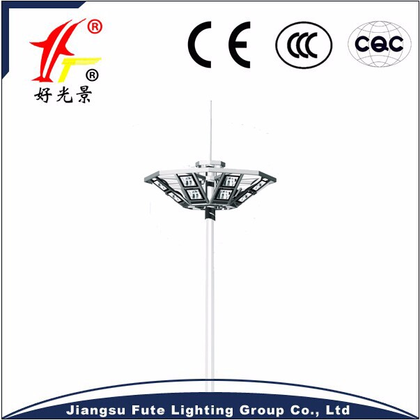 Factory cheap 20M/25M/30M LED or HPS high mast lighting