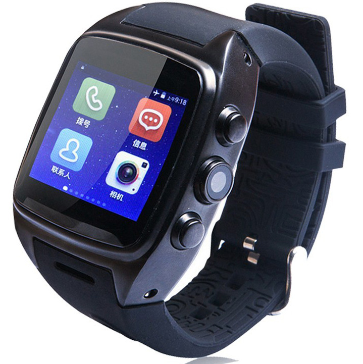 2016 X01 Android 4.4 O.S 3G WCDMA WIFI GPS Smart Watch Mobile Phone with Bluetooth Anti lost Alarm