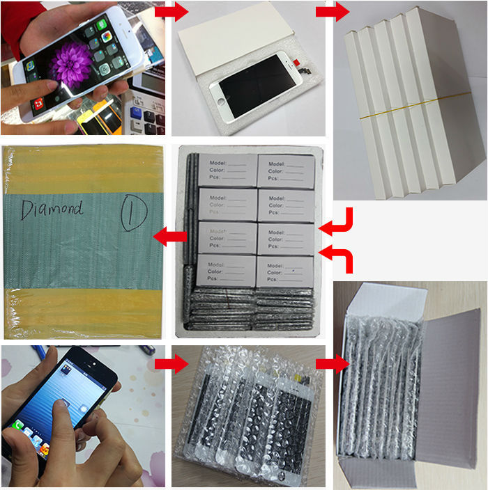 Wholesale high quality for iphone 6 front glass replacement original