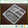 Wholesale plastic transparent compartment disposable food tray