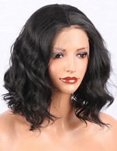 Overnight Delivery Lace Wigs Middle Part Synthetic Lace Front Wig Short Curly Bob Wigs For African American