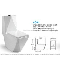 8001 One piece sanitary ware ceramic toilet, modern toilet price, wc toilet price