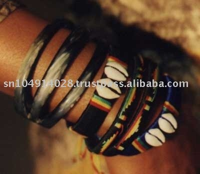 African cowry wristlets