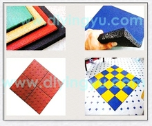China High Quality Rubber Flooring Type Rubber Patio Tile