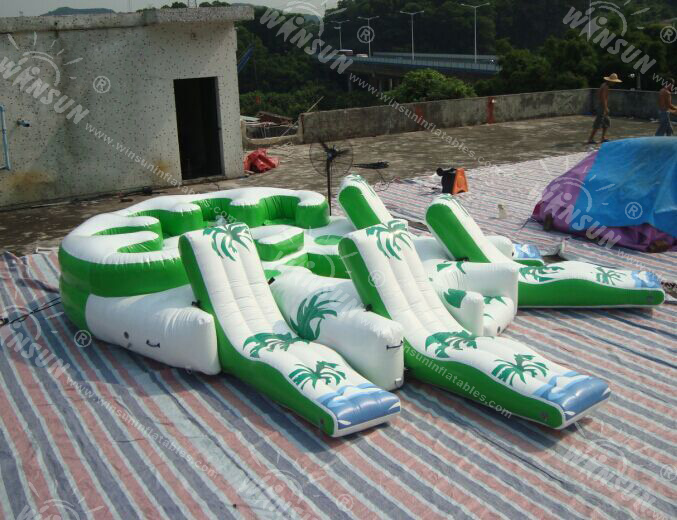 Giant 10 Person Inflatable Water Raft Pool Tropical Tahiti