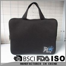 Neoprene material new custom 17.3 inch laptop bag with fine workmanship