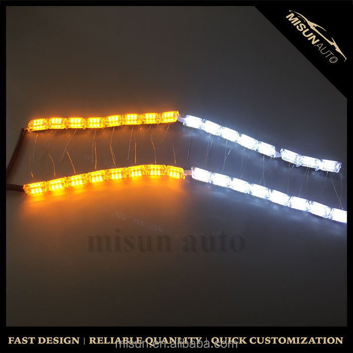 led drl daytime running light strip car headlight tuning light with led sequential lights