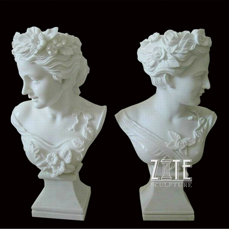 Customized service marble stone carvings lady statues famous busts