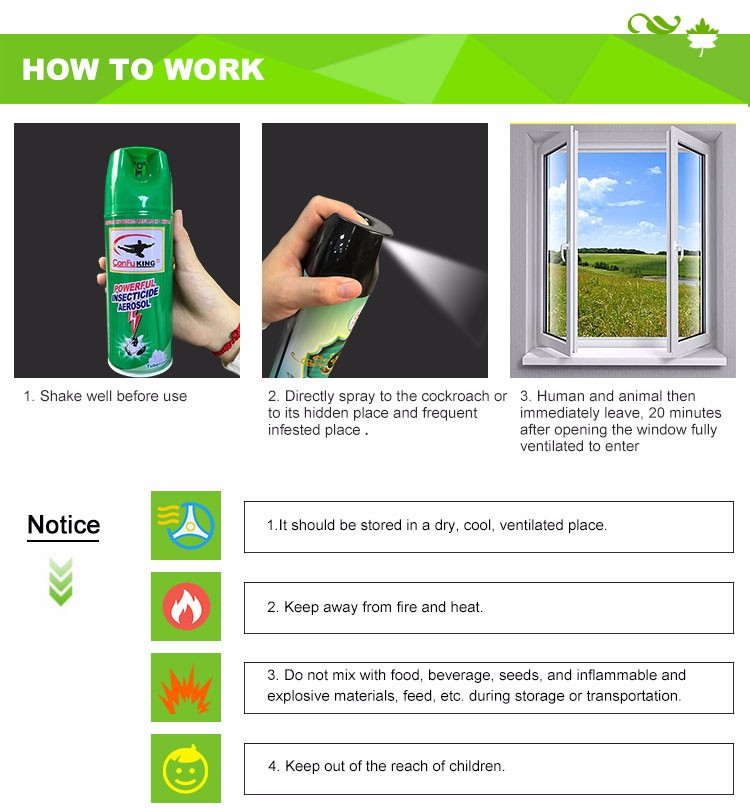 Cheap Price Low Harm Powerful Aerosol Insecticide Spray