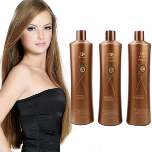 JINGXIN 1000ml OEM / ODM Curly hair straightening cream brazilian true keratin treatment