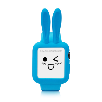 Silicon Cute Rabbit 귀 WatchProtective Case 대 한 Apple Watch 42 미리메터 38 미리메터
