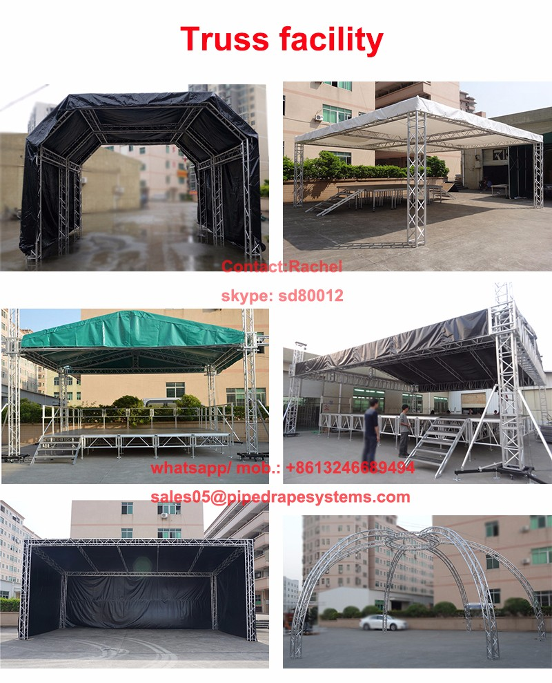 portable aluminum lighting stage truss safety systems for outdoor event
