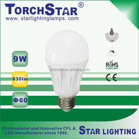 Ultra brightness Ra>80 9W A60 SMD energy saving LED light bulb